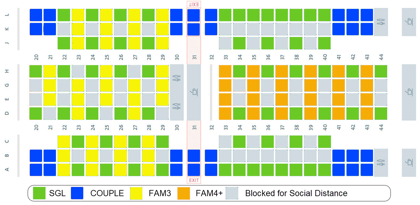 Example seat map_social distancing